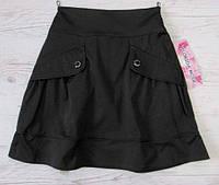 Р.128,140 Школьная форма - юбка чёрная школьная, фото 1