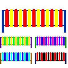 Декоративний парканчик Радість Малий. Огородження для дитячих майданчиків. Колір на вибір.
