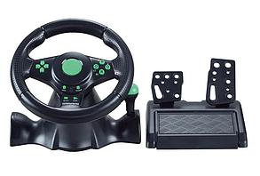 Джойстик руль игровой 3 В 1 Vibration Steering Wheel PS2/PS3/PC USB с виброотдачей