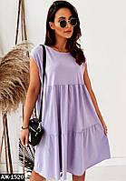Женское летнее свободное платье