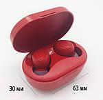 Беспроводные наушники блютуз гарнитура наушники Bluetooth 5.0 Wi-pods M8 RED с зарядным чехлом-кейсом, фото 8