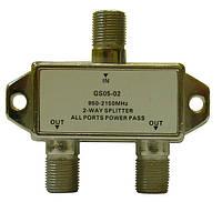 Делитель сигнала спутниковой ПЧ с пропуском питания Split GS 05-02 (два равноценных выхода, 950-2150 МГц)