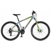 """Велосипед AUTHOR (2020) Impulse 27.5"""", рама 19"""", цвет-серебристый // зелёный"""