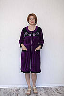Велюровый халат молодёжный большие размеры, фото 1