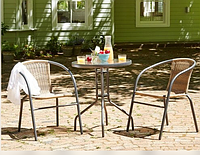 Комплект мебели BISTRO коричневый стол + 2 кресло HYS-1311R