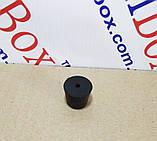 Ніжка гумова, №14 (ф15/ф20, h16 мм), чорна, фото 2