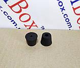 Ніжка гумова, №14 (ф15/ф20, h16 мм), чорна, фото 3