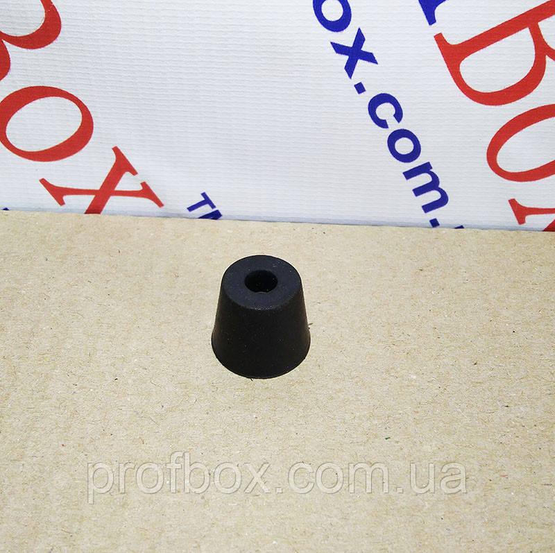 Ніжка гумова, №14 (ф15/ф20, h16 мм), чорна