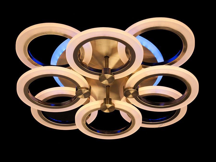 LED-Люстра с диммером и пультом цвет бронза 95W Diasha&A3003/4+4BR LED 3color dimmer