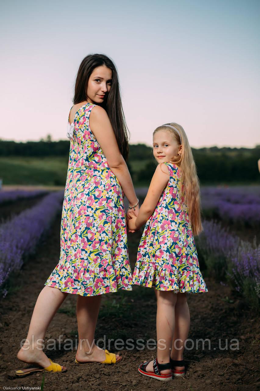 """FAMILY LOOK / Комплект мама і дочка """"KOTTON STORY"""""""