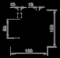 Станочный профиль T-track 100х100 без покрытия