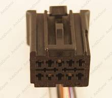 Разъем автомобильный 10-pin/контактный. Мама. 20×17 mm. Б.У