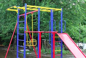 Дитячий спортивно-ігровий комплекс-майданчик Dali 809 для вулиці з гіркою і гойдалок