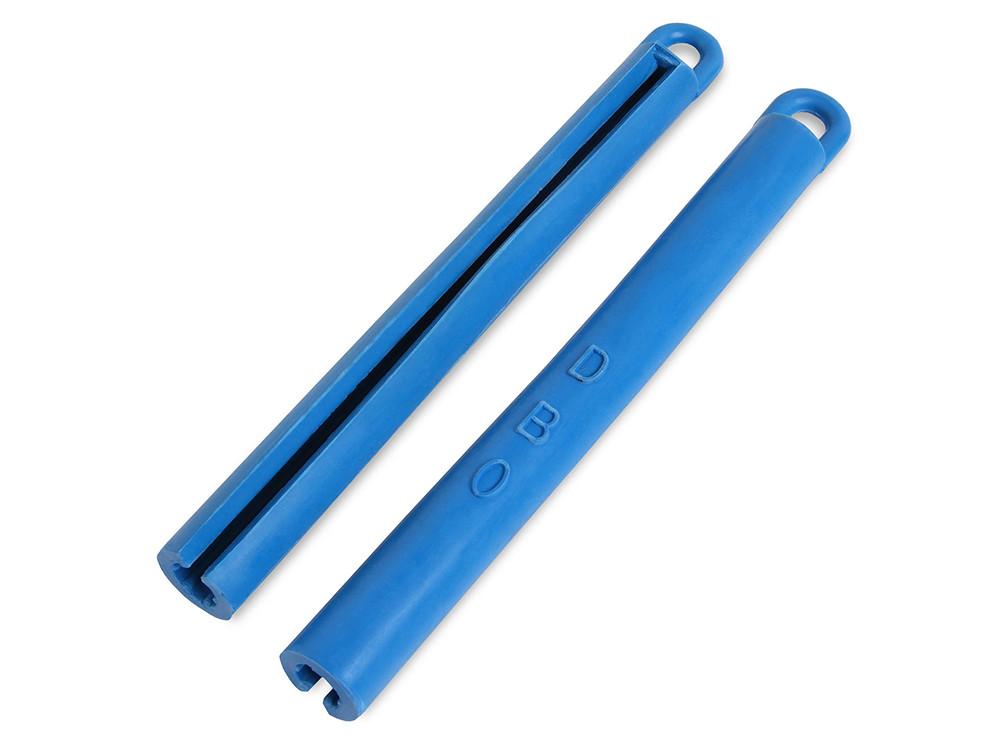 Тримач для кия гумовий синій 195мм
