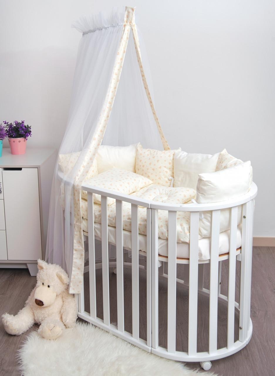 Детская постель Twins Dolce Сердечки 4064-D-403 ecru 8 эл
