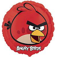"""Шар фольга 18"""" Angry Birds Красная птица (круг) 1202-1642"""