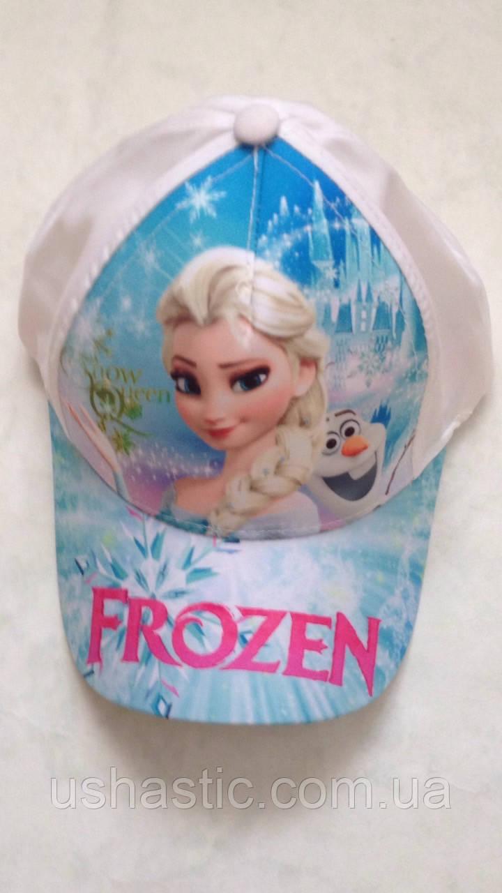"""Кепка детская для девочек """"Frozen"""" 52 р. хлопок Вьетнам"""