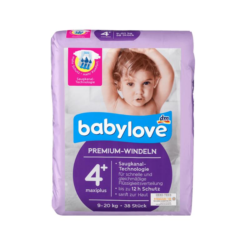 Підгузки Babylove Premium 4+ (9-20кг), 38шт