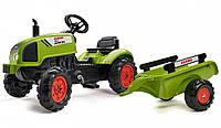 Детский педальный трактор с прицепом Falk 2041C Claas Arion 2-5 лет для детей, фото 1