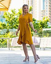 Женское модное платье на запах 48-58, фото 3
