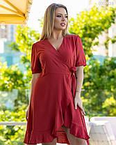 Красивое женское платье горчичного цвета 48 по 58 размер, фото 3