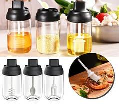 Емкость для хранения растительного масла с кисточкой (Банка для растительного  масла), фото 3