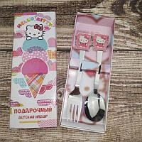 """Набор детских столовых приборов"""" Hello Kitty"""" 2-х предметный."""