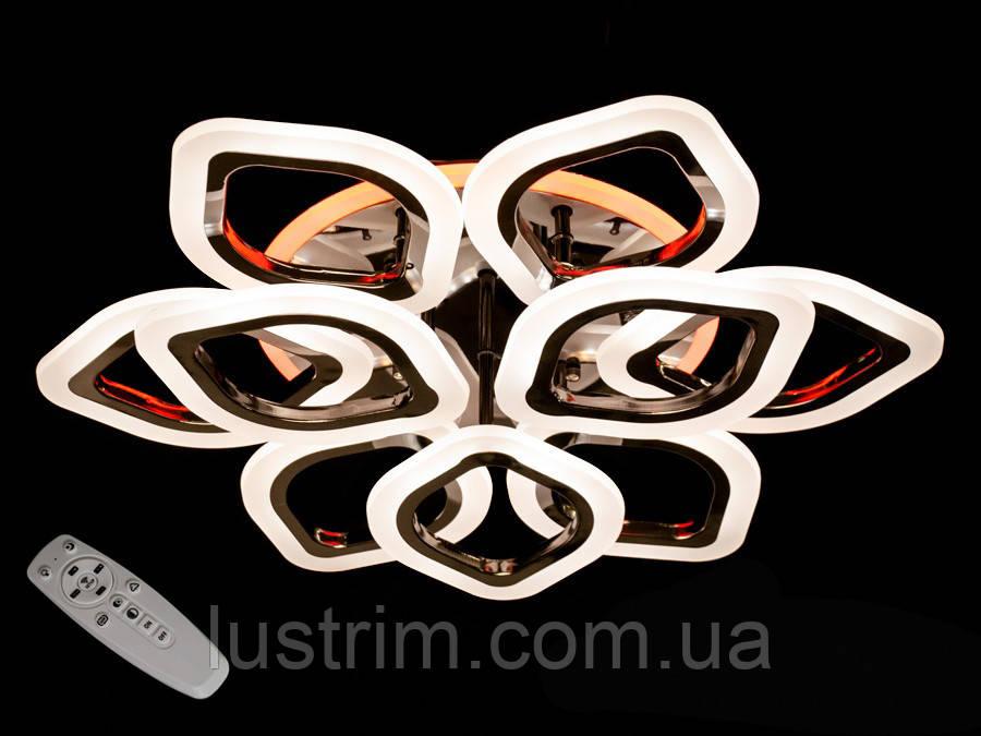 Светодиодная люстра с диммером и LED подсветкой 125W