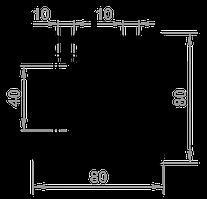Станочный профиль T-track 80х80 без покрытия