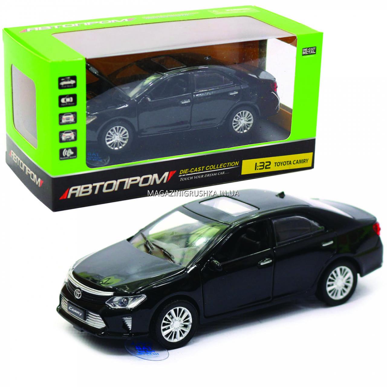 Машинка игровая автопром «Toyota Camry» Тойота, металл, 14 см, черный (свет, звук, двери открываются) 7814
