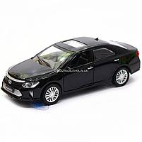 Машинка игровая автопром «Toyota Camry» Тойота, металл, 14 см, черный (свет, звук, двери открываются) 7814, фото 3