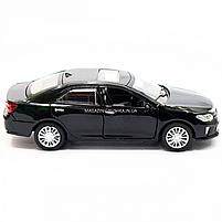 Машинка игровая автопром «Toyota Camry» Тойота, металл, 14 см, черный (свет, звук, двери открываются) 7814, фото 4