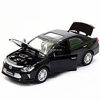 Машинка игровая автопром «Toyota Camry» Тойота, металл, 14 см, черный (свет, звук, двери открываются) 7814, фото 6