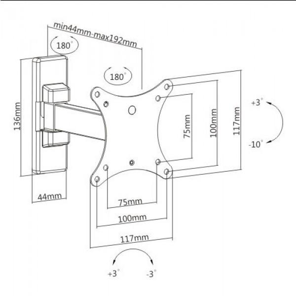 Кронштейн для телевизора iTECH LCD32B White
