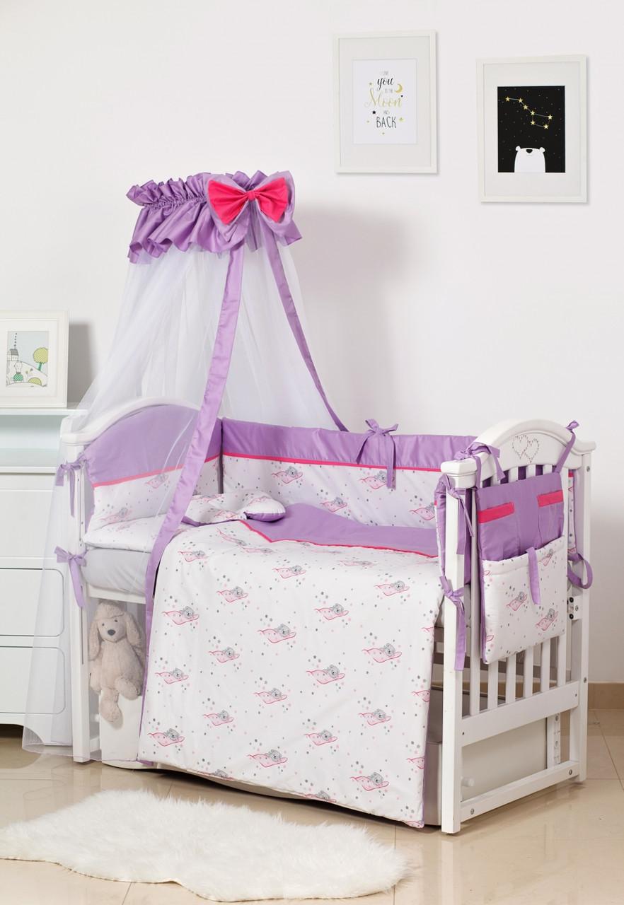 Детская постель Twins Modern ll 4028-P-117, Мишки розовый 8 эл