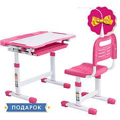 Эргономический комплект Cubby парта и стул-трансформеры Vanda Pink