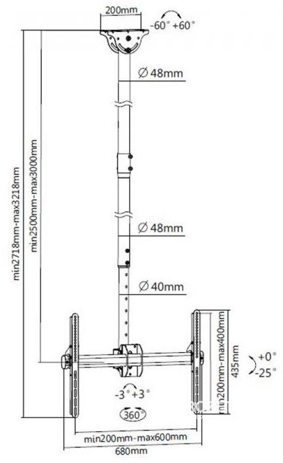 Кронштейн для телевизора ITech Celb-54XL