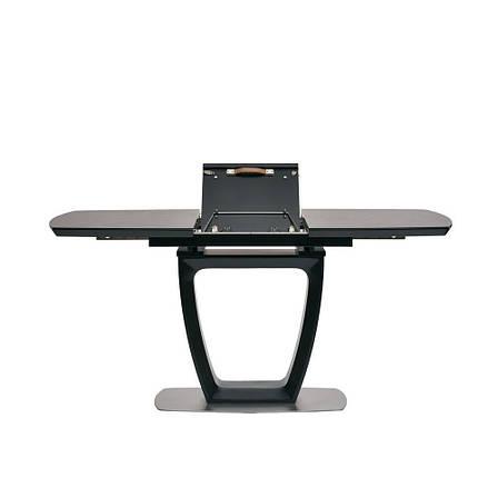 Стіл розкладний обідній скло+МДФ RAVENNA DARK GREY ( Равенна Дарк Грей ) 120-160 см. темно-сірий, фото 2