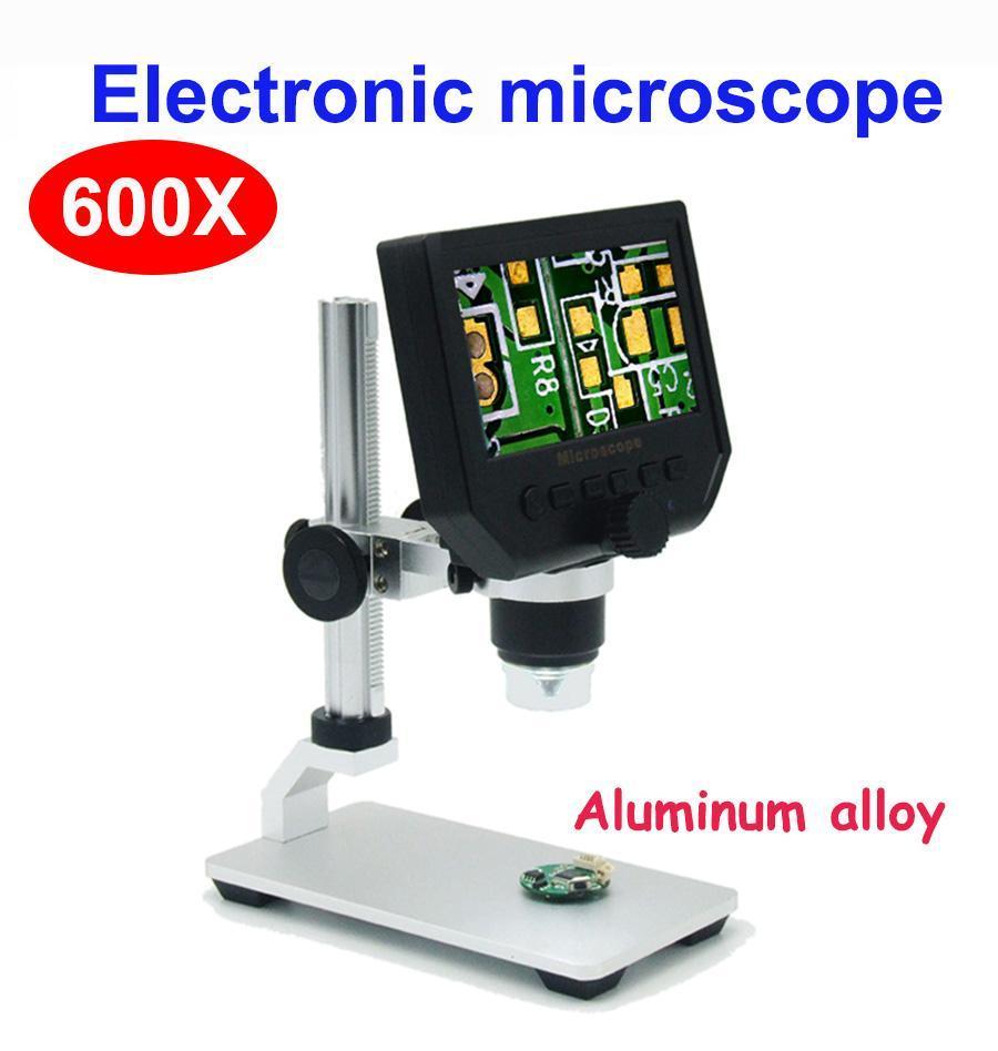 Цифровой видео микроскоп со встроенным дисплеем 600х на алюминиевом штативе