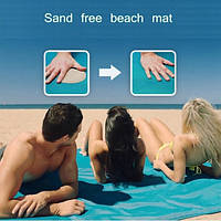 Пляжний Килимок антипісок рушник 3 кольори 150x200 см | пляжный коврик антипесок полотенце покрывало подстилка