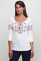 Современные вышиванки Женская Белая M-711-28