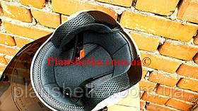 Шлем HNJ 01 белый глянец ( тонированое стекло) открытый, фото 3