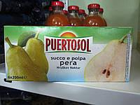 Сок грушевый с мякотью Puertosol succo e porpa pera 6 Х 200 мл