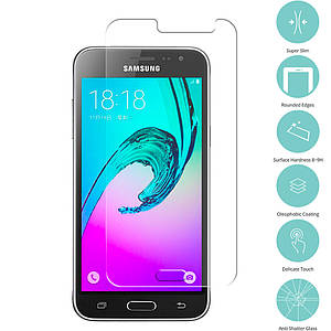 Защитное полноэкранное стекло для Samsung Galaxy J200 самсунг прозрачное