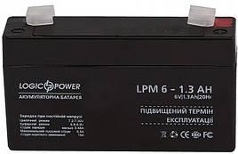 Аккумуляторная батарея 6V 1.3Ah LogicPower AGM