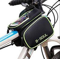 """ЛУЧШАЯ велосумка на раму для смартфона до 6,5"""" B soul велосипедная сумка штаны как Rockbros Rosweel"""