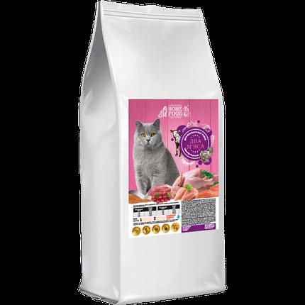 Home Food (Хоум Фуд) корм для взрослых котов Британской породы индейка и телятина (2 мяса), 10 кг, фото 2