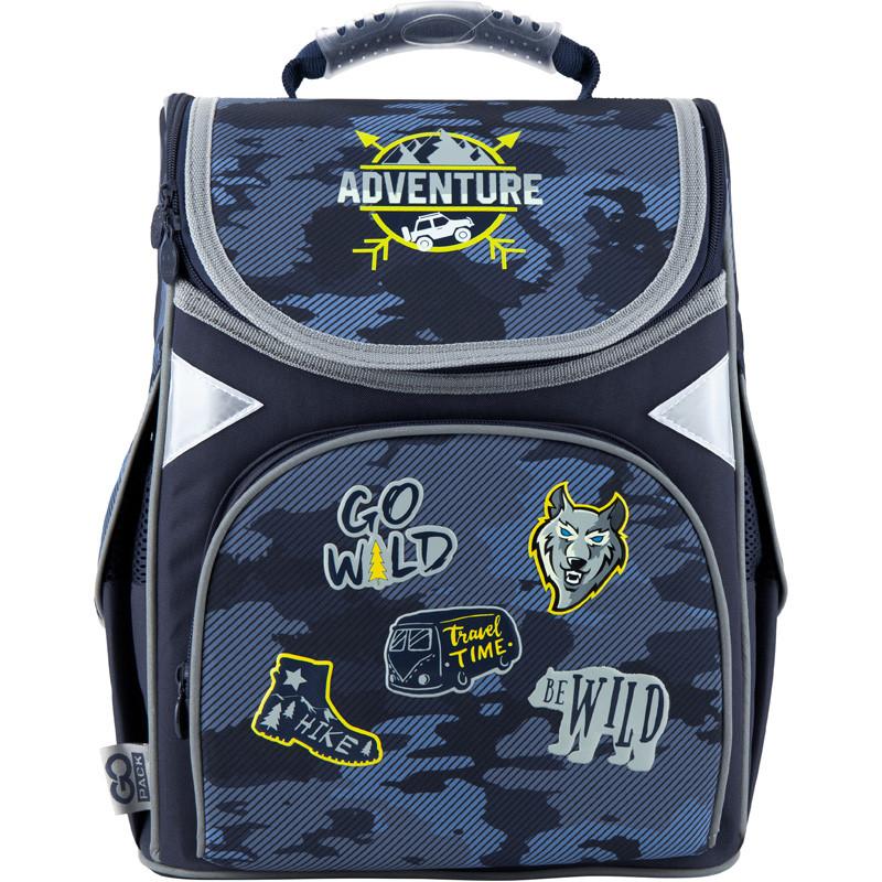 Рюкзак школьный GoPack Education ортопедический ортопедический каркасный для первоклассника с ортопедической спинкой 5001-16 Adventure  44602