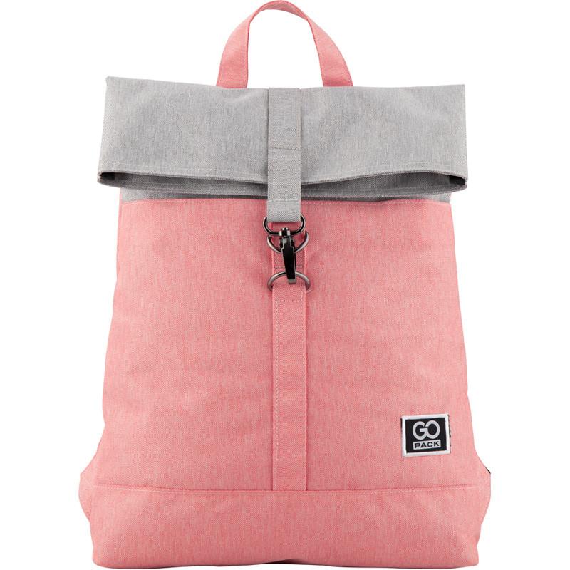 Рюкзак GoPack Сity 155-3 серо-розовый  44654