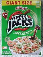 Сухой завтрак колечка с яблоком и корицей Apple Jacks, фото 1